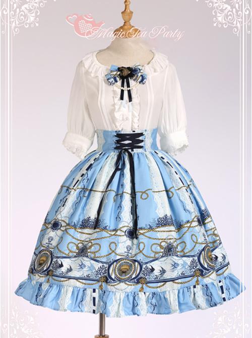 blue frill Lolita dress