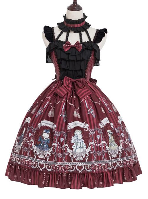 black and red Lolita dress